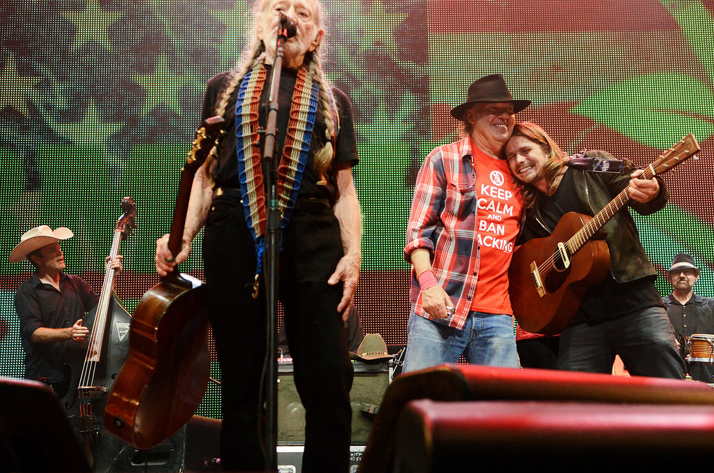 . Erica Miller - The Saratogian Famous Willie Nelson performed at the Farm Aid 2013 in Saratoga Springs on Sept. 21, 2013 at Saratoga Performing Arts Center.SAR-l-WillieNelson2