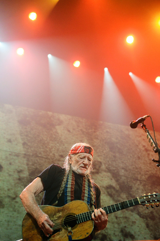 . Erica Miller - The Saratogian Famous Willie Nelson performed at the Farm Aid 2013 in Saratoga Springs on Sept. 21, 2013 at Saratoga Performing Arts Center.SAR-l-WillieNelson14