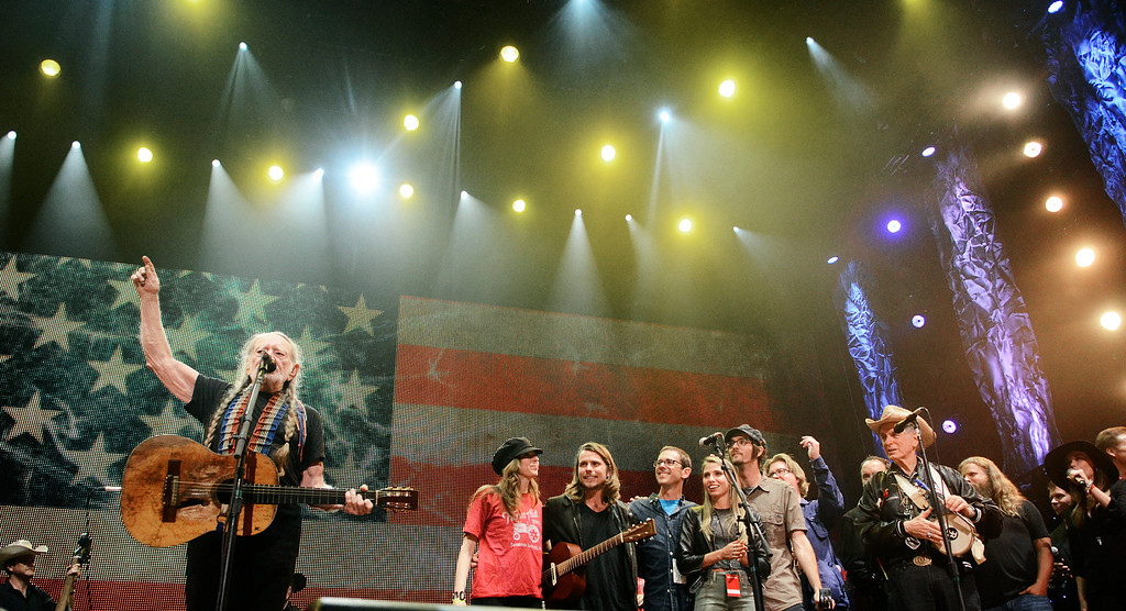 . Erica Miller - The Saratogian Famous Willie Nelson performed at the Farm Aid 2013 in Saratoga Springs on Sept. 21, 2013 at Saratoga Performing Arts Center.SAR-l-WillieNelson16