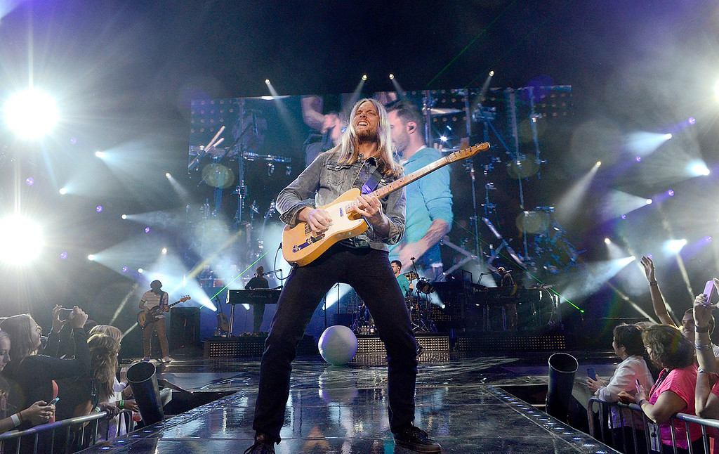 . James Valentine and Maroon 5 take the stage Thursday at SPAC. Photo Ed Burke/SARATOGIAN 9/5/13