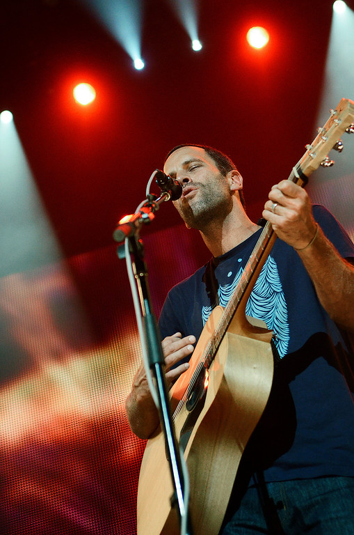 . Erica Miller - The Saratogian Jack Johnson, from Hawaii, performed at the Farm Aid 2013 in Saratoga Springs on Sept. 21, 2013 at Saratoga Performing Arts Center.SAR-l-JackJohnson10