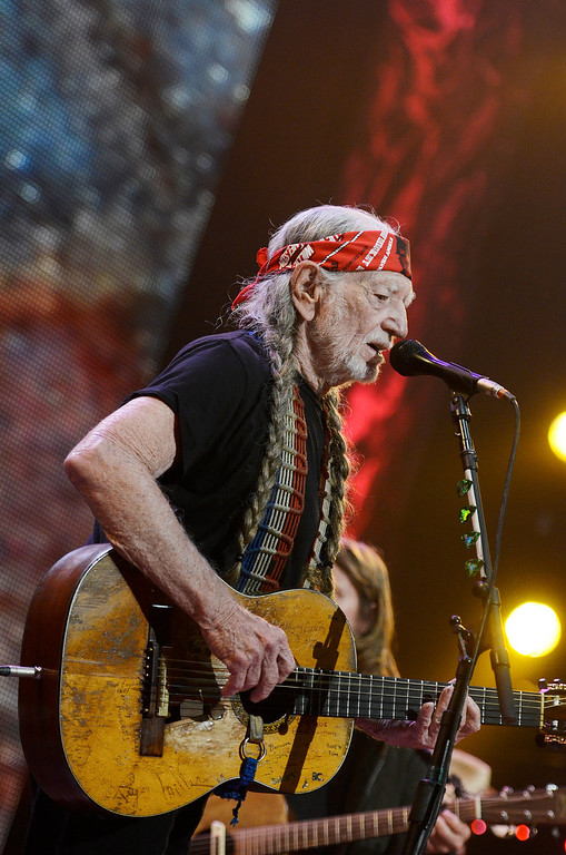 . Erica Miller - The Saratogian Famous Willie Nelson performed at the Farm Aid 2013 in Saratoga Springs on Sept. 21, 2013 at Saratoga Performing Arts Center.SAR-l-WillieNelson9