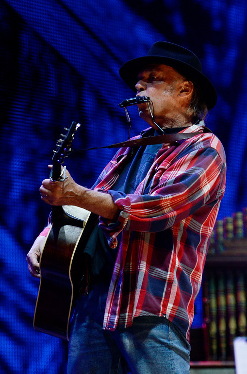 . Erica Miller - The Saratogian Neil Young performed at the Farm Aid 2013 in Saratoga Springs on Sept. 21, 2013 at Saratoga Performing Arts Center.SAR-l-NeilYoung1