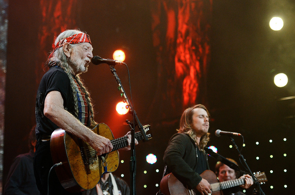 . Erica Miller - The Saratogian Famous Willie Nelson performed at the Farm Aid 2013 in Saratoga Springs on Sept. 21, 2013 at Saratoga Performing Arts Center.SAR-l-WillieNelson10