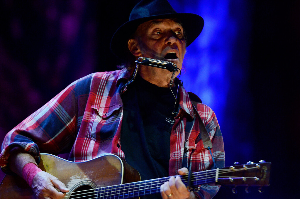 . Erica Miller - The Saratogian Neil Young performed at the Farm Aid 2013 in Saratoga Springs on Sept. 21, 2013 at Saratoga Performing Arts Center.SAR-l-NeilYoung3