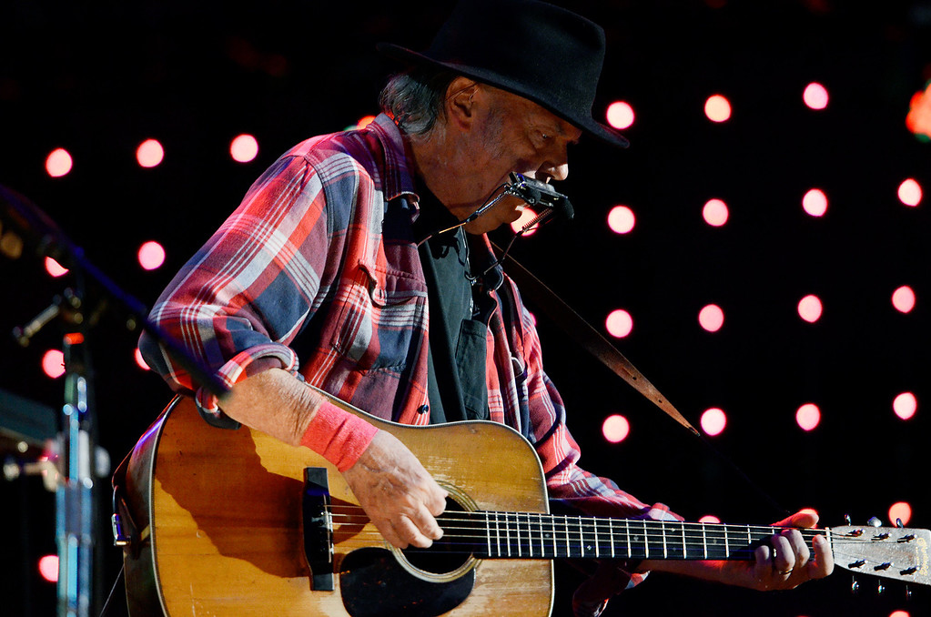 . Erica Miller - The Saratogian Neil Young performed at the Farm Aid 2013 in Saratoga Springs on Sept. 21, 2013 at Saratoga Performing Arts Center.SAR-l-NeilYoung4